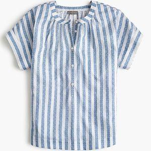 J crew Point Sur pop over shirt in dobby cotton